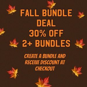 30% OFF 2+ BUNDLES!! THIS WEEKEND ONLY! SHOP NOW!!
